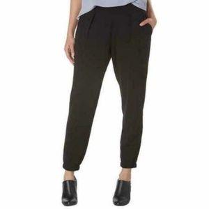 Jones New York Womens Pants Jogger Black Stretch